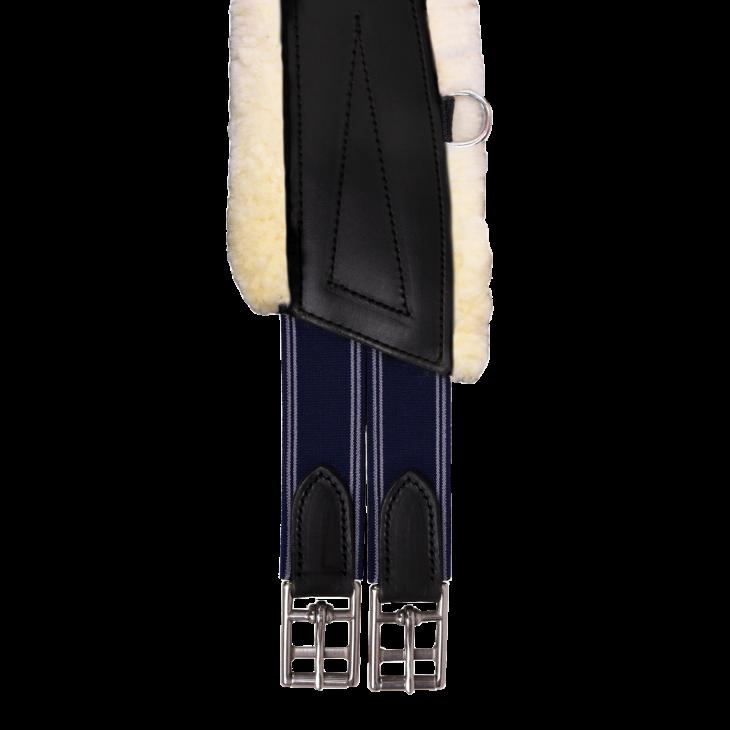 Sangle bavette mouton naturel Bruno Delgrange et cuir pleine fleur